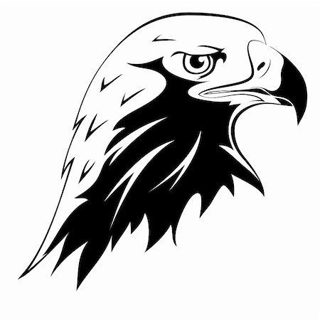 pzromashka (artist) - A wild predator. Tattoos. Vector black silhouette of an eagle's head Stock Photo - Budget Royalty-Free & Subscription, Code: 400-06106359