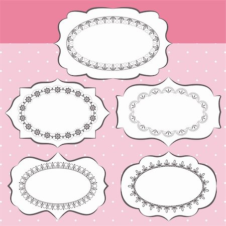 Set of ornate vector frames and ornaments Stock Photo - Budget Royalty-Free & Subscription, Code: 400-06106430