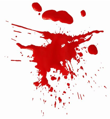 dripping splat - Blot of red blood Stock Photo - Budget Royalty-Free & Subscription, Code: 400-06108496