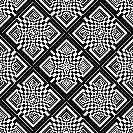 simsearch:400-04476890,k - Seamless checked op art pattern. Vector graphics. Stock Photo - Budget Royalty-Free & Subscription, Code: 400-06108959