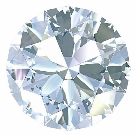 Round, old european cut diamond, isolated on white background Stock Photo - Budget Royalty-Free & Subscription, Code: 400-06101078