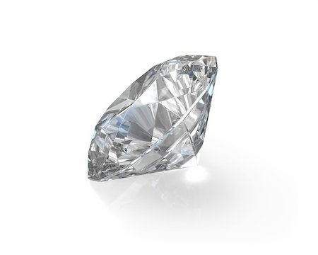 Round, old european cut diamond, isolated on white background Stock Photo - Budget Royalty-Free & Subscription, Code: 400-06101084