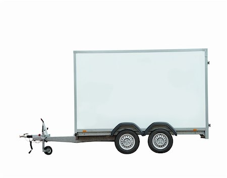 Trailer from the side on a white background Stock Photo - Budget Royalty-Free & Subscription, Code: 400-06101287