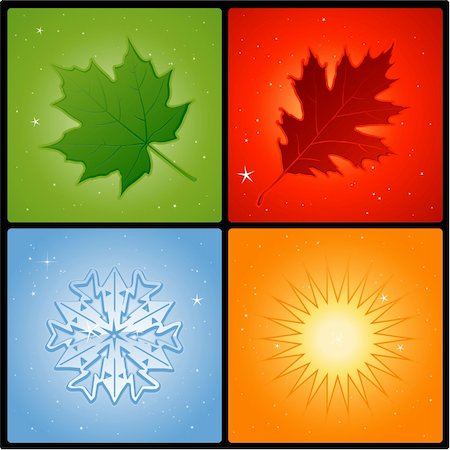 Four seasons background Stock Photo - Budget Royalty-Free & Subscription, Code: 400-06101355