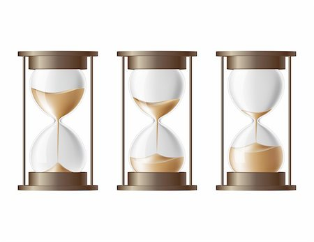 sand clock - Sand falling in the hourglass in three different states Stock Photo - Budget Royalty-Free & Subscription, Code: 400-06101717