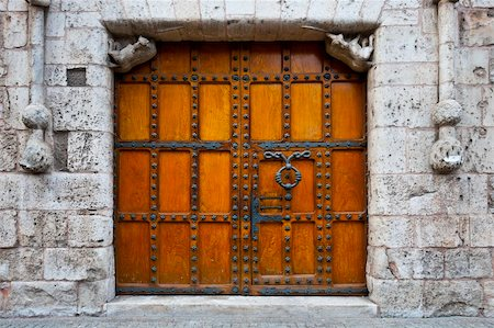 Detail of  Portal of the Gothic Church in Burgos, Spain Stock Photo - Budget Royalty-Free & Subscription, Code: 400-06101824