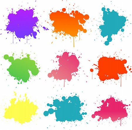 spot paint - colorful paint splat Stock Photo - Budget Royalty-Free & Subscription, Code: 400-06102048