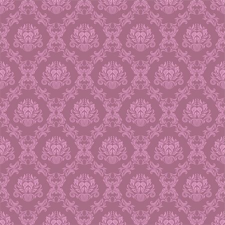 Damask seamless floral pattern. Rose flowers on a brown background. Stock Photo - Budget Royalty-Free & Subscription, Code: 400-06102089