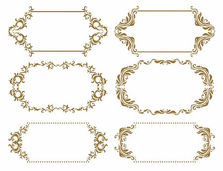 simsearch:400-04872199,k - Set of ornate floral vector frames for invitations or announcements. In vintage style. Stock Photo - Budget Royalty-Free & Subscription, Code: 400-06102093