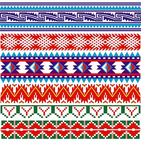 Vector image of ancient american pattern on white Stock Photo - Budget Royalty-Free & Subscription, Code: 400-06103456