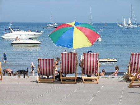 British summer at the beach Stock Photo - Budget Royalty-Free & Subscription, Code: 400-06126776