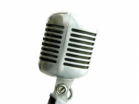 The retro Shure Elvis Mic from the 50's. Stock Photo - Budget Royalty-Free & Subscription, Code: 400-06127351