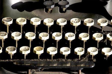 Old typewriter keys Stock Photo - Budget Royalty-Free & Subscription, Code: 400-06129426