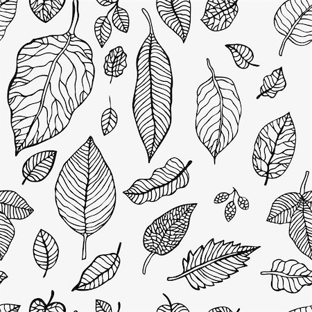 simsearch:400-04765926,k - Seamless background with leaves.  Abstract vector  pattern. Stock Photo - Budget Royalty-Free & Subscription, Code: 400-06135914