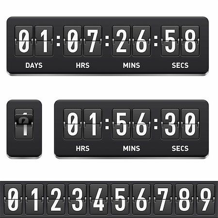 Countdown timer. Illustration on white background for design Stock Photo - Budget Royalty-Free & Subscription, Code: 400-06136346