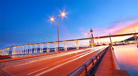 highway under the bridge in macao Stock Photo - Budget Royalty-Free & Subscription, Code: 400-06137188