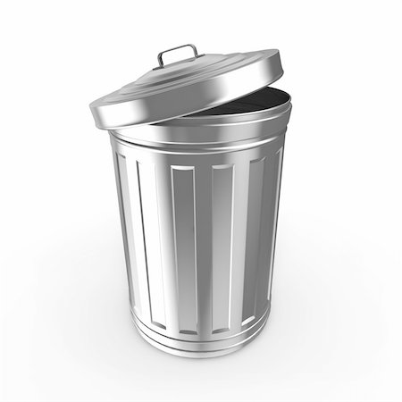 Steel trash can Stock Photo - Budget Royalty-Free & Subscription, Code: 400-06139575