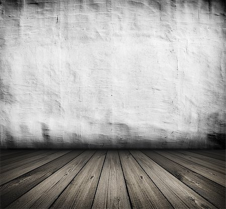 dark vintage white room with wooden floor and artistic shadows added Stock Photo - Budget Royalty-Free & Subscription, Code: 400-06140372