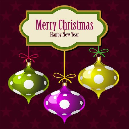 elakwasniewski (artist) - Christmas star background with colorful balls, vector illustration Stock Photo - Budget Royalty-Free & Subscription, Code: 400-06142090