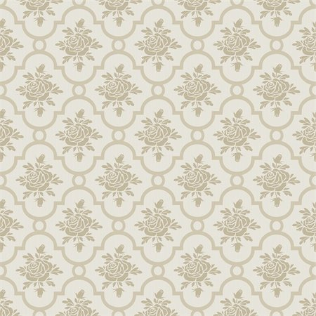elakwasniewski (artist) - Pastel brown roses seamless pattern, repeating design, full scalable vector graphic for easy editing and color change, included Eps v8 and 300 dpi JPG Stock Photo - Budget Royalty-Free & Subscription, Code: 400-06142271