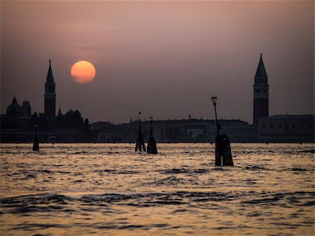 An image of a sunset in Venice Italy Stock Photo - Budget Royalty-Free & Subscription, Code: 400-06142787