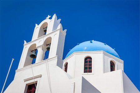 An image of a nice Santorini view with church Stock Photo - Budget Royalty-Free & Subscription, Code: 400-06142935