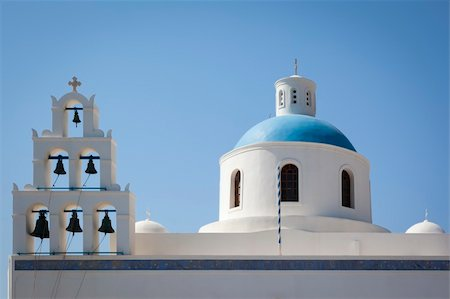 An image of a nice Santorini view with church Stock Photo - Budget Royalty-Free & Subscription, Code: 400-06142936