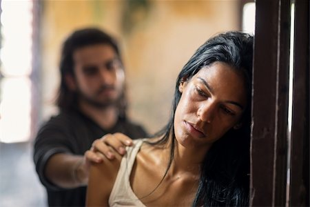 diego_cervo (artist) - Social issues, domestic violence with young husband trying to reconcile with abused wife Stock Photo - Budget Royalty-Free & Subscription, Code: 400-06143070