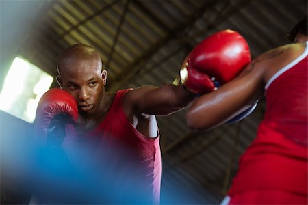 diego_cervo (artist) - Sport and people, two men exercising and fighting in boxing gym Stock Photo - Budget Royalty-Free & Subscription, Code: 400-06143291