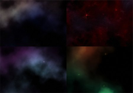 Set. 4 cosmic sky patterns with galaxy and stars Stock Photo - Budget Royalty-Free & Subscription, Code: 400-06177026