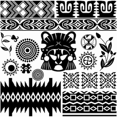 Vector image of ancient american pattern on white Stock Photo - Budget Royalty-Free & Subscription, Code: 400-06178132
