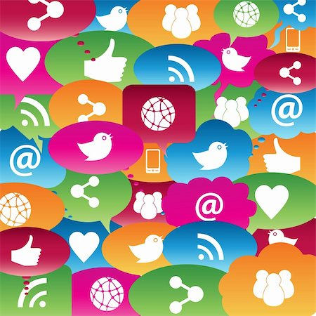 soleilc (artist) - Social network icons in talk bubbles Stock Photo - Budget Royalty-Free & Subscription, Code: 400-06178614