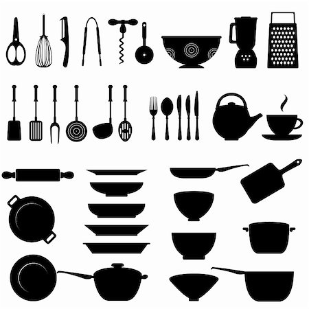 soleilc (artist) - Kitchen utensils and tool icon set Stock Photo - Budget Royalty-Free & Subscription, Code: 400-06178613