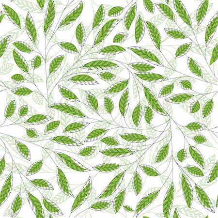 Leaf floral abstract seamless vector background. Art  pattern. Fabric texture vintage design. Pretty cute wallpaper filigree tile. Stock Photo - Budget Royalty-Free & Subscription, Code: 400-06170459