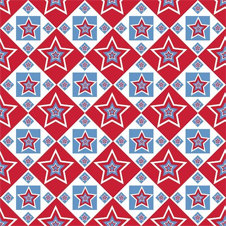 red colour background with white fireworks - cute american colored stars pattern Stock Photo - Budget Royalty-Free & Subscription, Code: 400-06170622