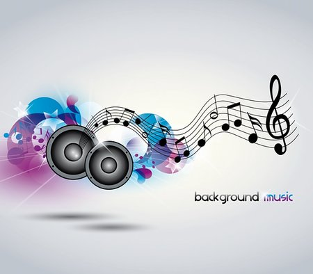 Abstract music background with music and speakers Stock Photo - Budget Royalty-Free & Subscription, Code: 400-06170843