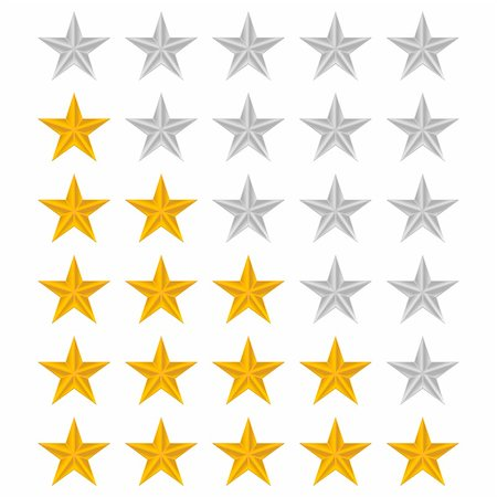 scalable - Rating stars set over white background Stock Photo - Budget Royalty-Free & Subscription, Code: 400-06171057