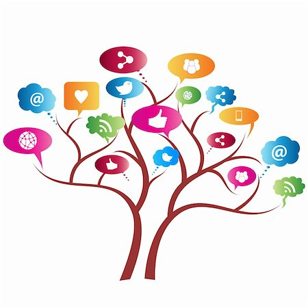 soleilc (artist) - Social network tree with symbols Stock Photo - Budget Royalty-Free & Subscription, Code: 400-06171388