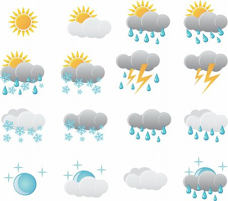 report icon - Meteorology Weather Icon Set Stock Photo - Budget Royalty-Free & Subscription, Code: 400-06171571