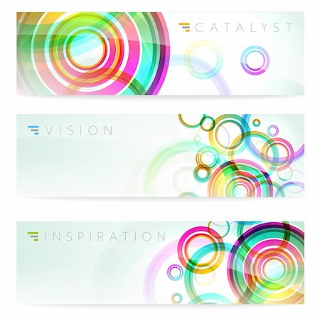 Set of three stylish abstract banners illustration Stock Photo - Budget Royalty-Free & Subscription, Code: 400-06171870