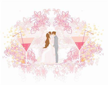 elegant wedding invitation with wedding couple Stock Photo - Budget Royalty-Free & Subscription, Code: 400-06172084
