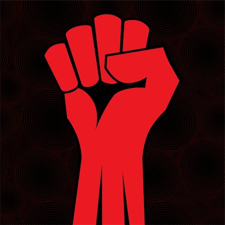 svetap (artist) - Red clenched fist hand vector. Victory, revolt concept. Revolution, solidarity, punch, strong, strike, change illustration. Stock Photo - Budget Royalty-Free & Subscription, Code: 400-06172579