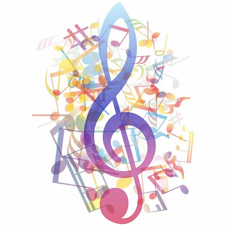 stave - Vector musical notes staff background for design use Stock Photo - Budget Royalty-Free & Subscription, Code: 400-06172726