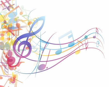 Vector musical notes staff background for design use Stock Photo - Budget Royalty-Free & Subscription, Code: 400-06172727