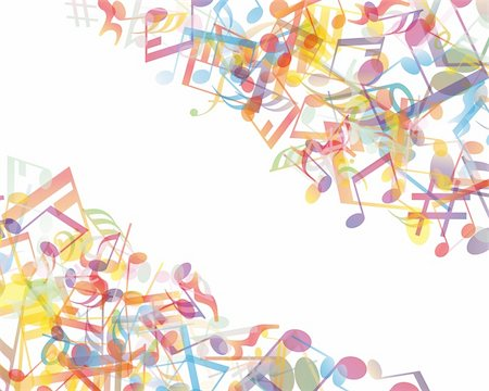 Vector musical notes staff background for design use Stock Photo - Budget Royalty-Free & Subscription, Code: 400-06172728