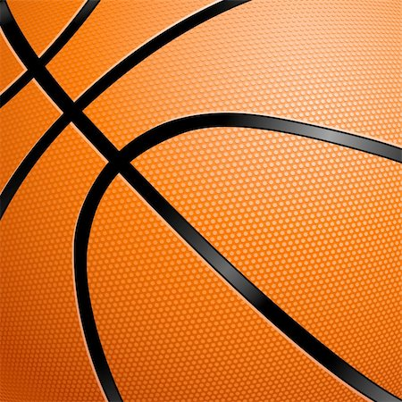 Orange Basketball close up illustration for design Stock Photo - Budget Royalty-Free & Subscription, Code: 400-06173922