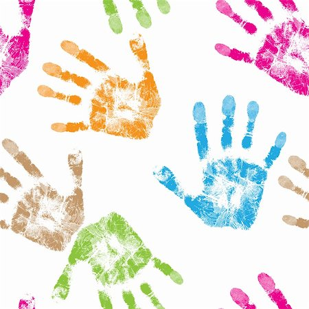 Print of hand of child, seamless isolated cute skin texture pattern,vector grunge illustration Stock Photo - Budget Royalty-Free & Subscription, Code: 400-06180008