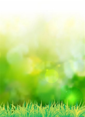 pretty background designs - natural green background with selective focus. Vector illustration Stock Photo - Budget Royalty-Free & Subscription, Code: 400-06199498