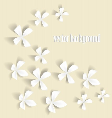 Romantic white flowers on a light background Stock Photo - Budget Royalty-Free & Subscription, Code: 400-06199602