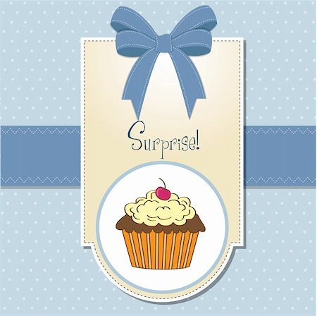 birthday card with cupcake Stock Photo - Budget Royalty-Free & Subscription, Code: 400-06199657